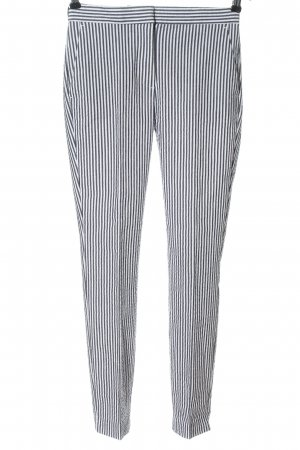 Zara Stoffhose hellgrau-weiß Streifenmuster Elegant