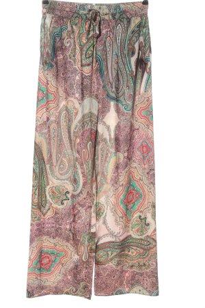 Zara Stoffhose abstraktes Muster Casual-Look