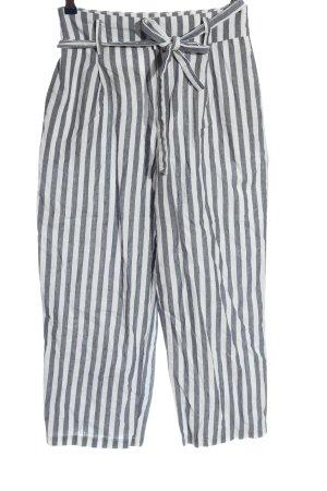 Zara Stoffhose schwarz-weiß Streifenmuster Casual-Look