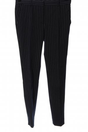 Zara Stoffhose schwarz Streifenmuster Business-Look