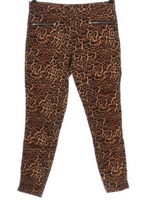 Zara Spodnie materiałowe Zwierzęcy wzór Ekstrawagancki styl