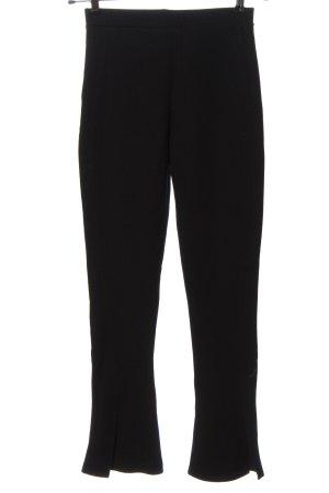 Zara Spodnie materiałowe czarny W stylu biznesowym