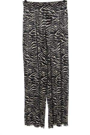 Zara Stoffhose schwarz-weiß Allover-Druck Casual-Look