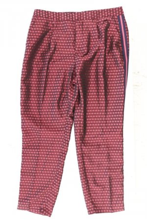 Zara Stoffhose Größe L rot aus Polyester