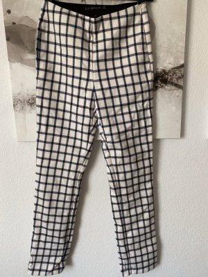 Zara Pantalon d'équitation blanc-bleu foncé