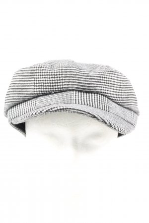 Zara Ballonmütze schwarz-weiß Allover-Druck Casual-Look