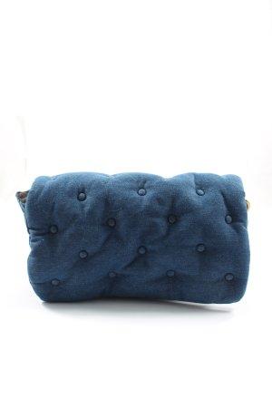 Zara Bolso de tela azul estampado acolchado elegante