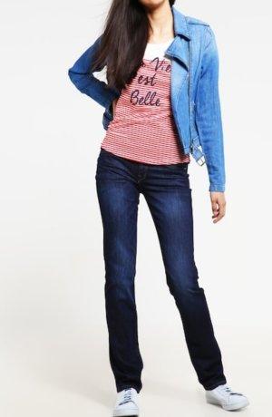 zaraStraight Jeans clean dark stone blue denim