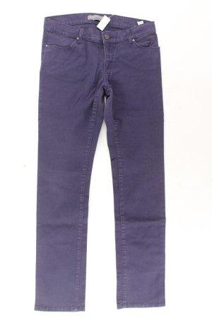 Zara Straight Jeans Größe 40 lila aus Baumwolle
