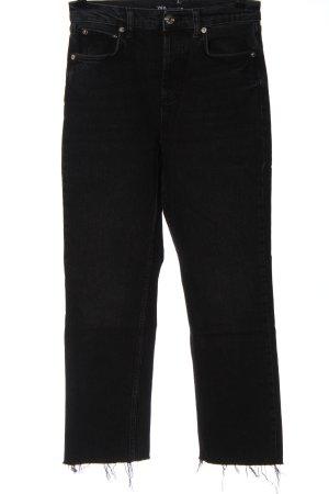 Zara Straight-Leg Jeans schwarz Casual-Look