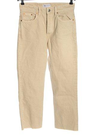 Zara Straight-Leg Jeans nude Casual-Look