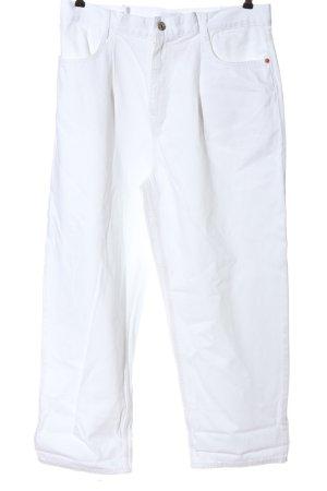 Zara Jeansy z prostymi nogawkami biały W stylu casual