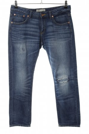 Zara Straight-Leg Jeans blau Casual-Look