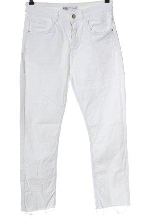 Zara Straight-Leg Jeans weiß Casual-Look