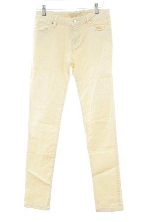 Zara Jeansy z prostymi nogawkami jasnożółty Prosty styl