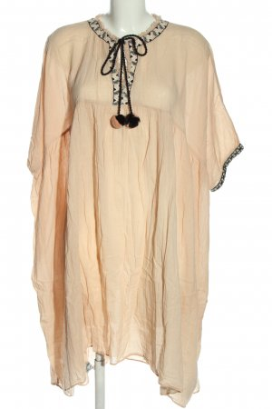 Zara Strandbekleidung creme-schwarz Casual-Look