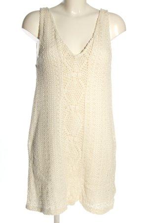 Zara Sukienka plażowa kremowy Warkoczowy wzór W stylu casual