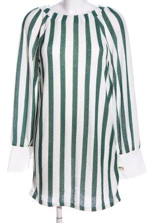 Zara Vestito da spiaggia bianco-verde motivo a righe stile casual