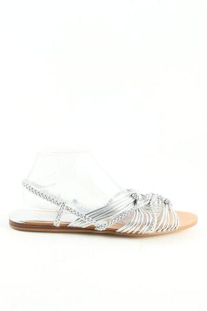 Zara Strandsandalen zilver casual uitstraling