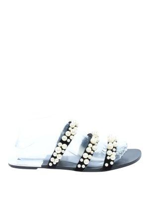 Zara Riemchen-Sandalen schwarz-wollweiß Casual-Look