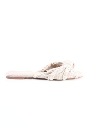 Zara Beach Sandals natural white casual look