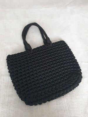Zara Torebka materiałowa czarny