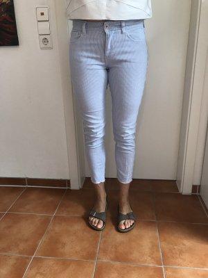 Zara 3/4-jeans wit-lichtblauw