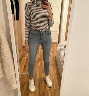 Zara Streifen Pullover Navy