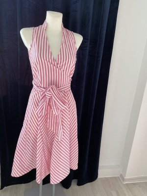 Zara streifenkleid M rosa weiß Sommerkleid
