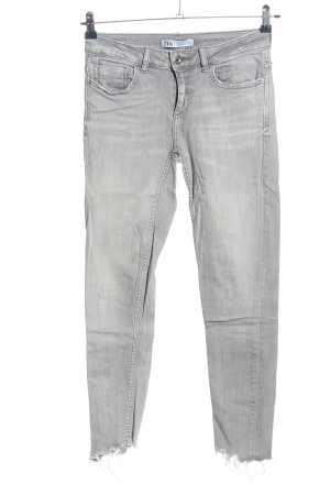 Zara Stretch Jeans hellgrau Casual-Look
