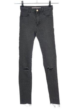 Zara Stretch Jeans hellgrau Casual-Look