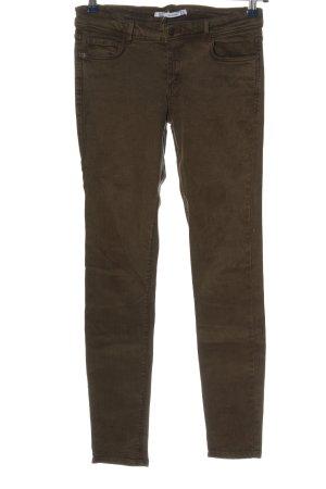 Zara Stretch Jeans braun Casual-Look