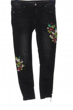 Zara Stretch Jeans Blumenmuster Casual-Look