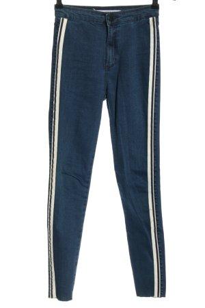 Zara Stretch Jeans Streifenmuster Casual-Look