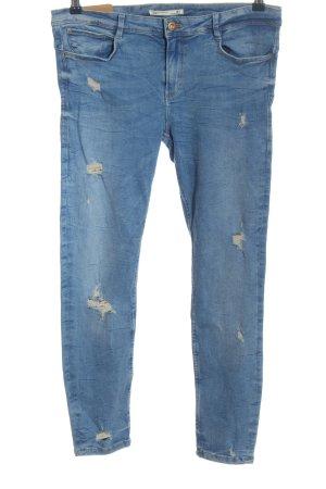 Zara Stretch Jeans blau Casual-Look