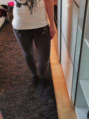 Zara Stretch Jeans Röhre Skinny Gr. 38 Grau