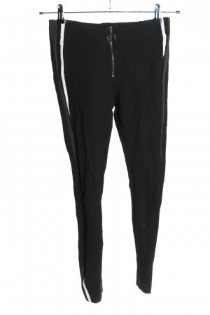 Zara Stretchhose schwarz Streifenmuster Casual-Look