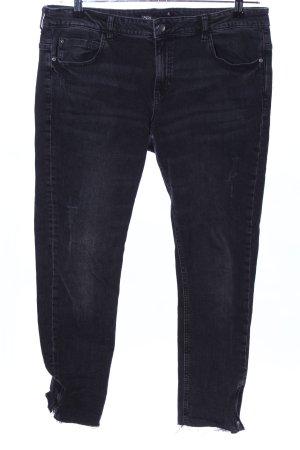 Zara Pantalone elasticizzato nero stile casual