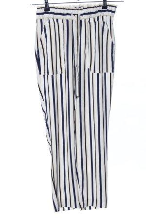 Zara Stretchhose schwarz-weiß Streifenmuster Business-Look