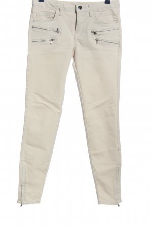 Zara Stretchhose weiß Casual-Look