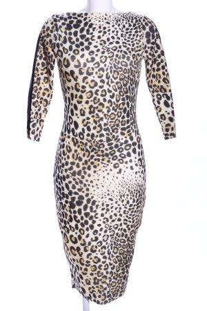 Zara Stretchkleid Animalmuster Elegant
