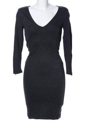 Zara Abito elasticizzato nero puntinato stile casual