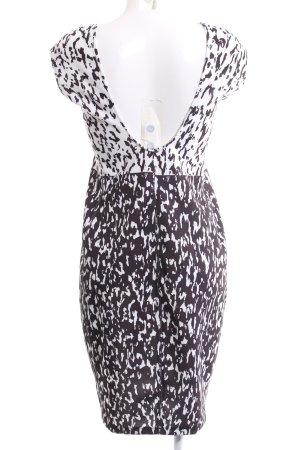 Zara Stretch jurk wit-zwart abstract patroon casual uitstraling