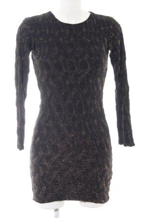 Zara Stretchkleid schwarz-goldfarben Elegant