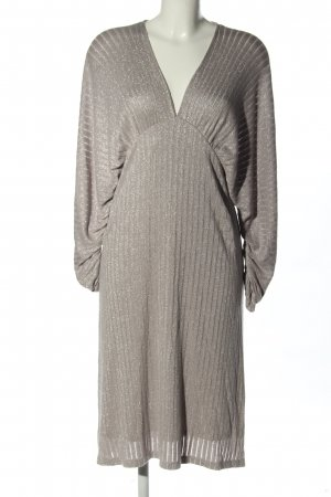 Zara Stretchkleid hellgrau Casual-Look
