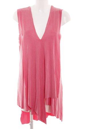 Zara Stretchkleid pink Casual-Look