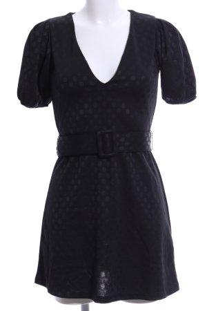Zara Stretchkleid schwarz Punktemuster Casual-Look