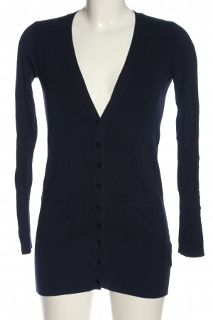 Zara Strick Cardigan blau Casual-Look