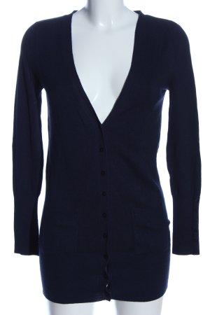 Zara Strick Cardigan blau Casual-Look