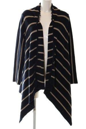 Zara Strick Cardigan blau-wollweiß Streifenmuster Elegant